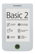 "Pocketbook Basic 2- PB614 6"" - бял"