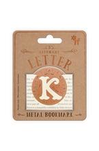 Метален книгоразделител - ретро буква - K