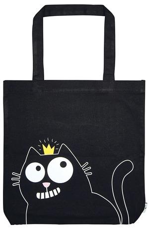 Продукт - Чанта за пазаруване - Ed The Cat - Котка с корона