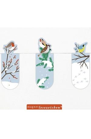 Продукт - Магнитен книгоразделител мини – Зимни птички