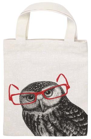 Продукт - Чанта за книги от плат - Бухал