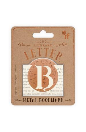 Продукт - Метален книгоразделител - ретро буква - B