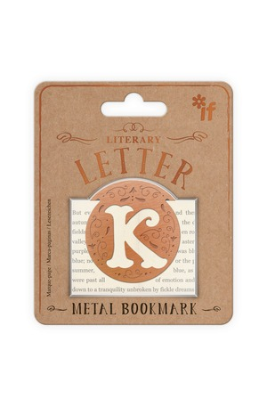Продукт - Метален книгоразделител - ретро буква - K