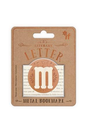 Продукт - Метален книгоразделител - ретро буква - M