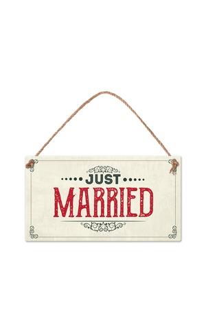 Продукт - Табелка - Just Married