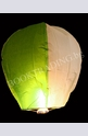 Летящ фенер премиум - бяло и зелено