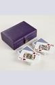 MON JEU LEATHER PLAYING CARDS 2 SETS Карти за игра в кожена кутия